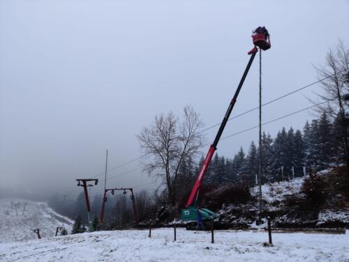 Wartungsarbeiten Flutlichtanlage 2020